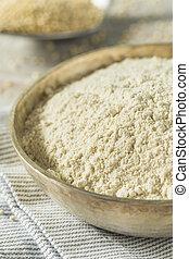 rauwe, organisch, quinoa, meel