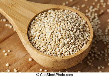 rauwe, organisch, quinoa, zaden