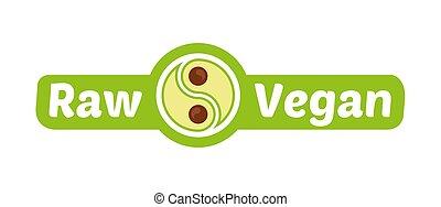 rauwe, vegan, logo