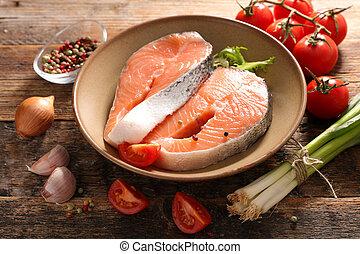 rauwe vis, biefstuk