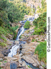 Ravana Falls in a green forest