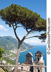 Ravello, Amalfi Coast, Italy - Panoramic view from Ravello,...