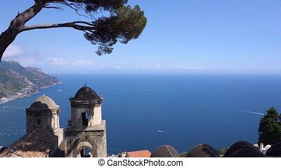 Ravello village, Amalfi coast of Italy - Belltower with the...