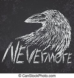 Raven Crow hand drawn sketch