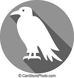 raven flat icon