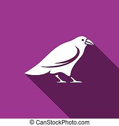 Raven icon. Vector Illustration
