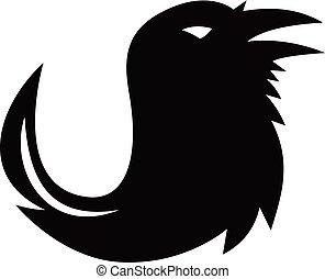 raven-pen-tail-SIL