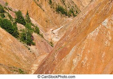 Ravine - Deep ravine, erosion landscape