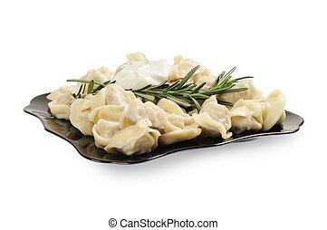 Ravioli on a plate