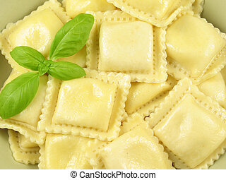 Ravioli pasta filled with ricotta, parmesan, and romano cheeses.