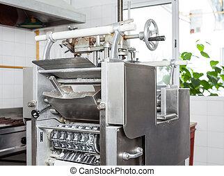 Ravioli Pasta Machine In Kitchen