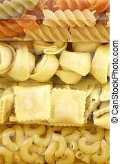 raw assorted and delicious packaged pasta - beautiful fresh...