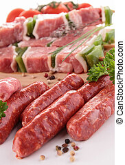 raw assorted meat