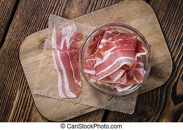 Raw Bacon (close-up shot)
