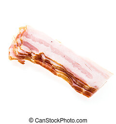 Raw bacon isolated on white