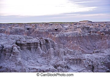 Raw Badlands Landscape