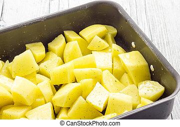 Raw Baked potatoes