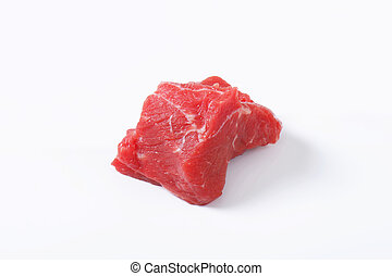 Chunk of raw beef steak