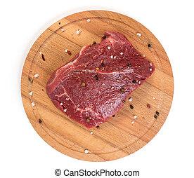 raw beef close up