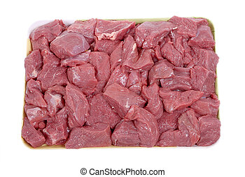 raw beef meat closeup - Stock Image