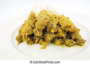 Raw Beef Satay