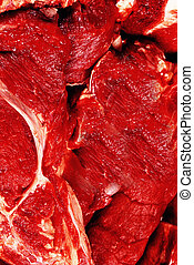 Raw beef steaks background