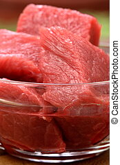 raw beef tenderloin chunks