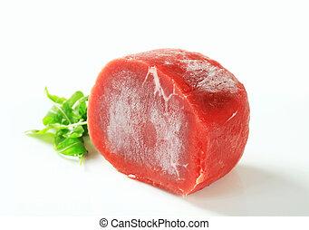 Raw beef tenderloin - Studio shot of raw beef tenderloin