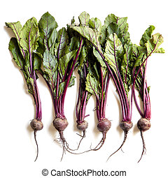 Raw Beetroot Isolated