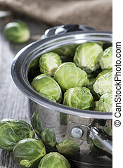 Brussel Sprouts in a pot