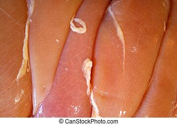 Raw Chicken Breasts background
