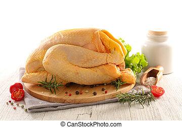 raw chicken on board