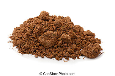 Raw clay - Pile of brown raw clay isolated on white