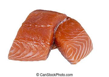 Raw Cut Salmon