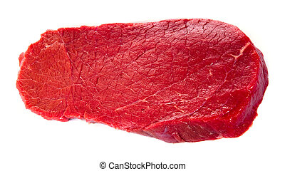 Raw filet steak - Raw beef steak isolated on white ...