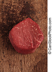 raw fillet steak