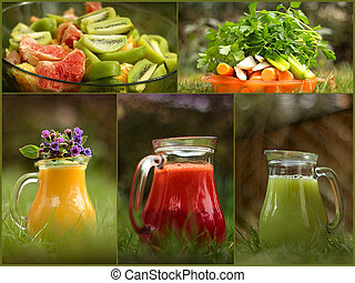 Fresh fruit and vegetable juices