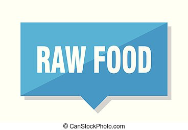 raw food price tag - raw food blue square price tag