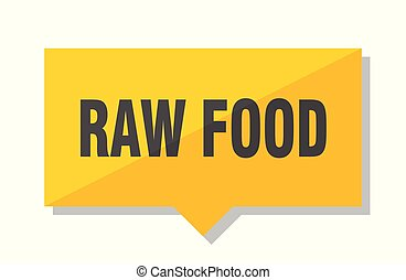 raw food price tag - raw food yellow square price tag