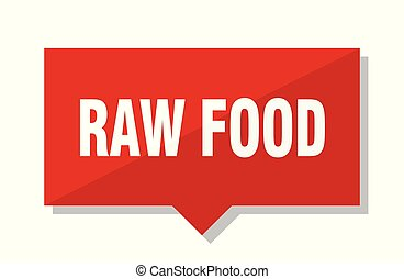 raw food red tag - raw food red square price tag