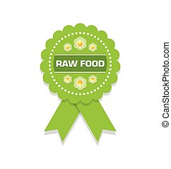 Raw food rosette - Green raw food rosette on white...