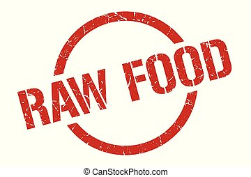 raw food stamp - raw food red round stamp