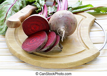 raw fresh organic beets