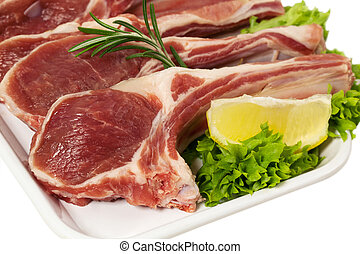 raw Lamb Chops - Raw Lamb Chops with Rosemary and Ingredient...