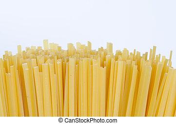 Raw linguine pasta