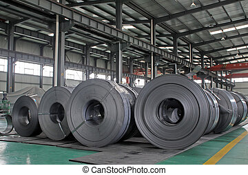 raw materials strip in the internal of a steel manufacturing...
