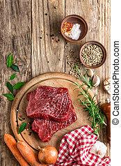 raw meat beef steak
