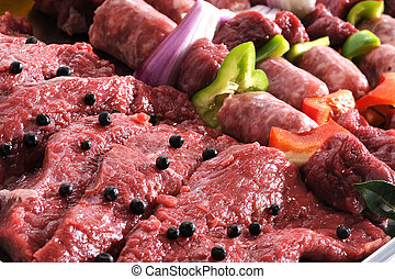 Raw meat, close up