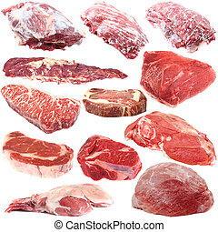 Raw meat collection