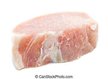 raw meat pork ,Pork Loin isolated on white
